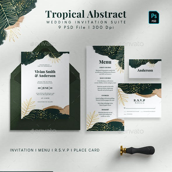 Tropical Abstract Wedding Suite