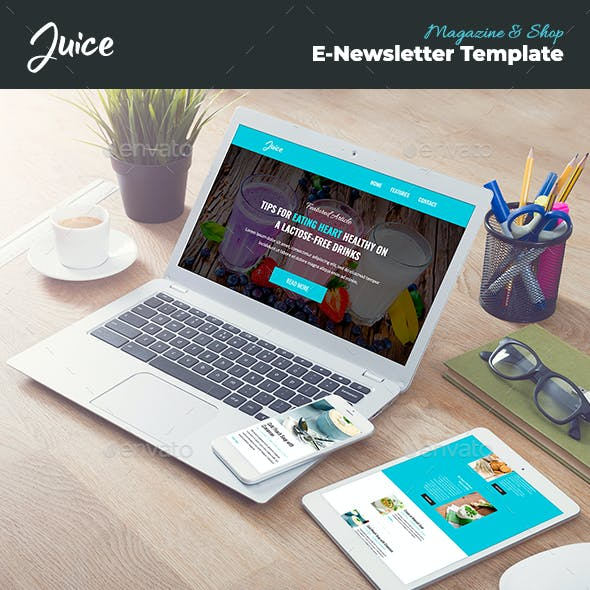 Juice – Magazine & Shop Email Template