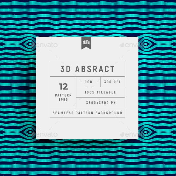 Abstract 3d Seamless Pattern