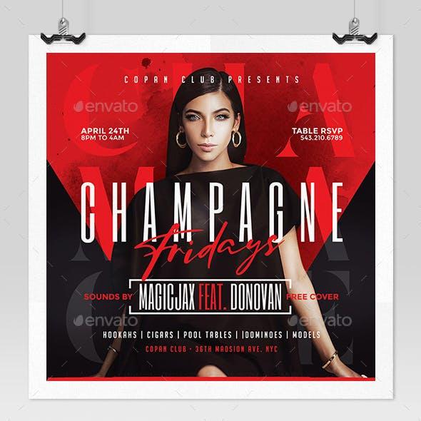 Champagne Fridays Flyer