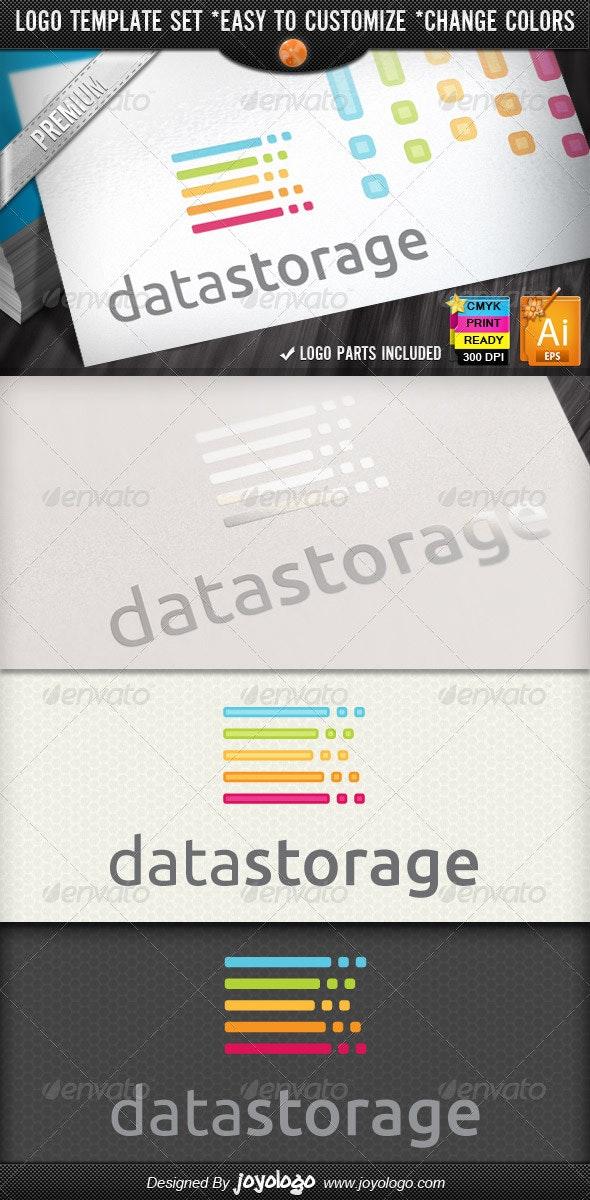 Server Hosting Service Data Storage Logo Design  - Symbols Logo Templates