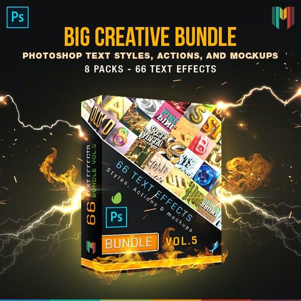 66 Creative Text Effects Bundle 5