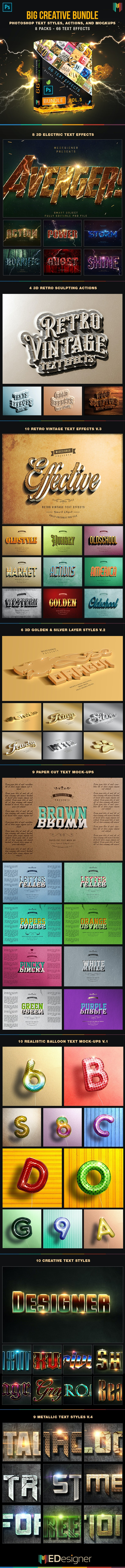 66 Creative Text Effects Bundle 5 - Text Effects Actions