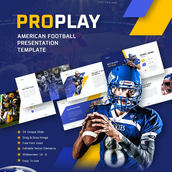 Proplay - American Football Sport PowerPoint Presentation Template
