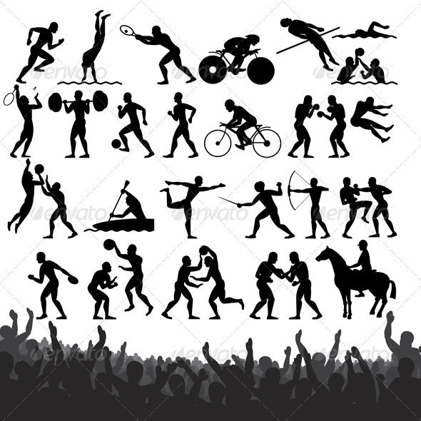 Summer Sport Silhouettes - Sports/Activity Conceptual