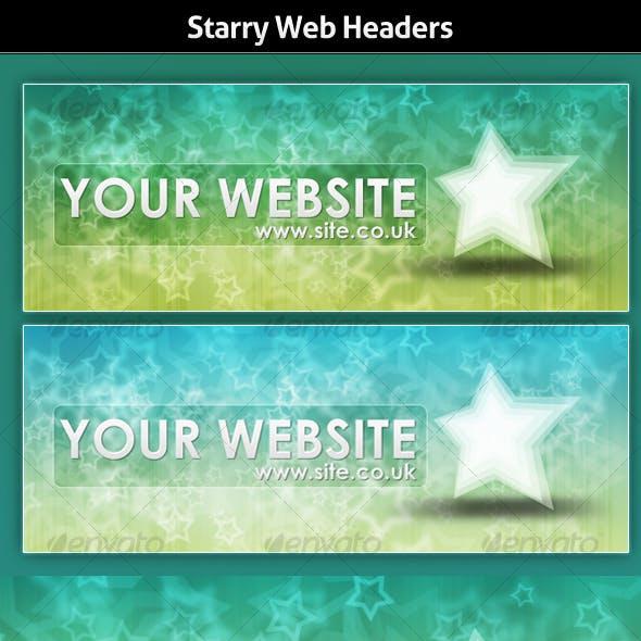 Starry Website Header