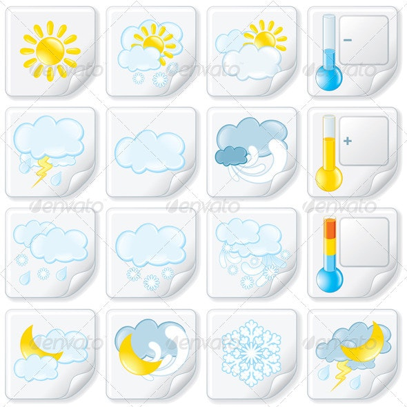 Weather Stickers - Seasons Nature