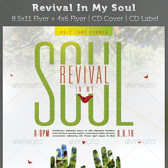 Revival In My Soul Flyer and CD Cover Template