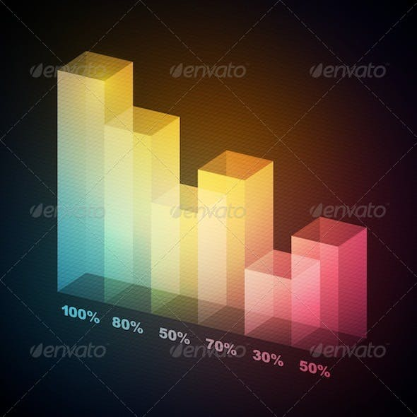 Colorful 3D Statistics Template