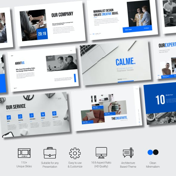Calme - Corporate Business Presentation Powerpoint Template