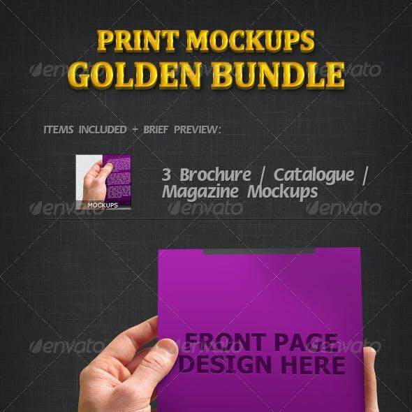Print Mockups Golden Bundle