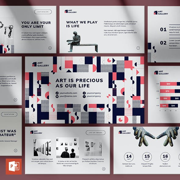Art Gallery PowerPoint Presentation Template