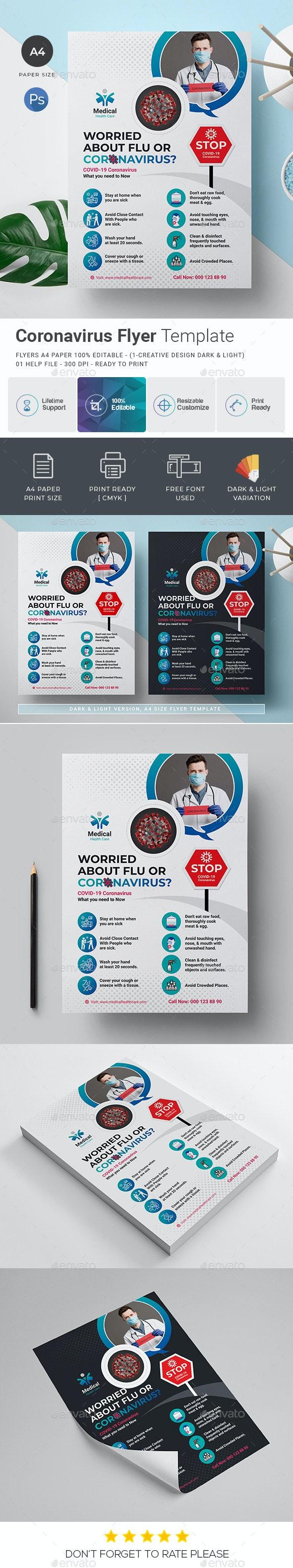Coronavirus Campaign Flyer Template - Corporate Flyers