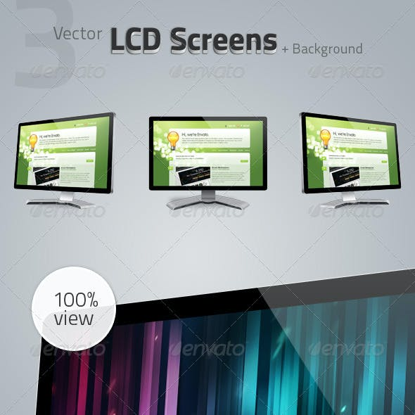 Vector LCD Display Screens