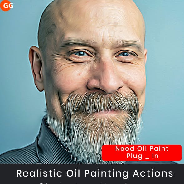 Realistic Oil Painting Actions