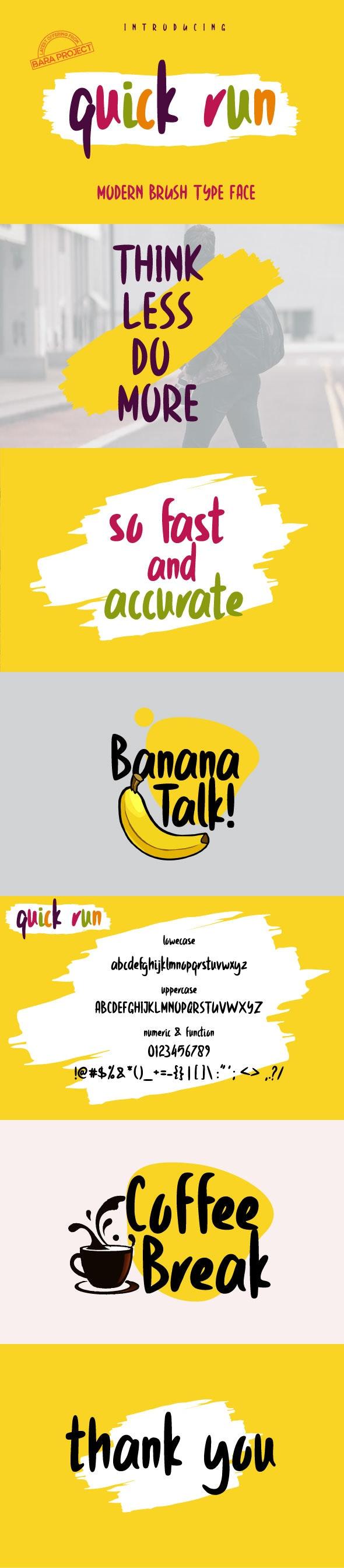 Quick Run - Comic Decorative