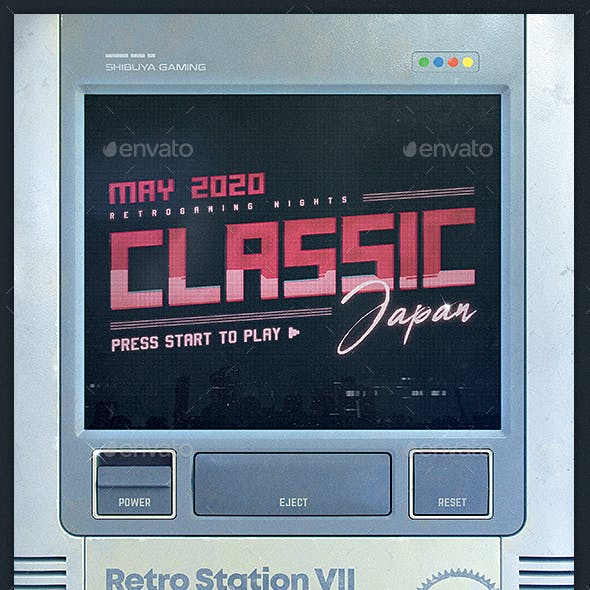 Retro Gaming Flyer Classic Game Template