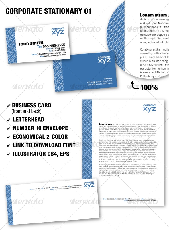 Corporate Stationary 01 - Stationery Print Templates