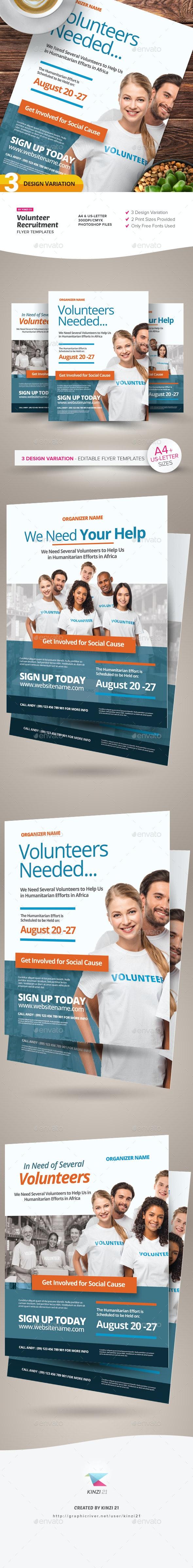 Volunteer Recruitment Flyer Templates - Corporate Flyers