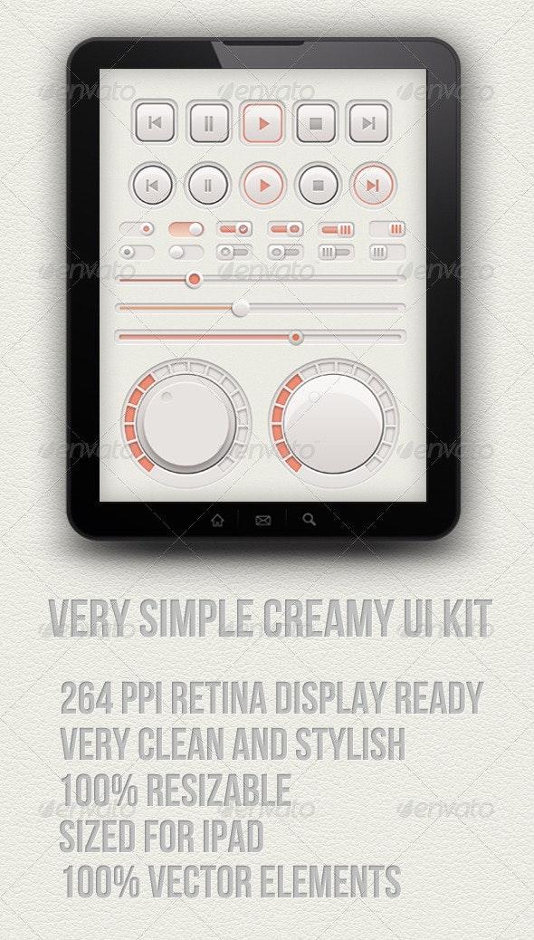 Creamy Audio Ui Kit - User Interfaces Web Elements