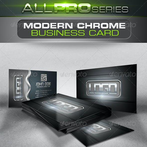 Modern Chrome Business Card