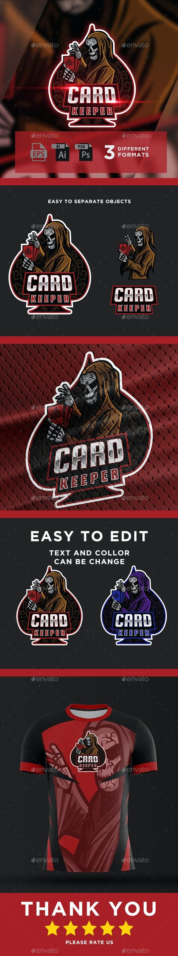 Card Keeper - Gaming Logo For Esports - Sports Logo Templates