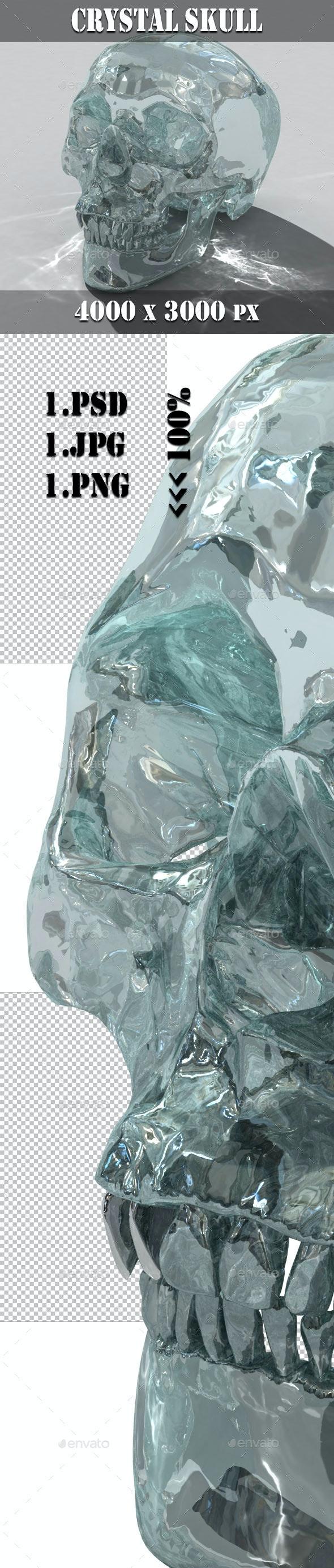 3D Crystal Skull - Objects 3D Renders