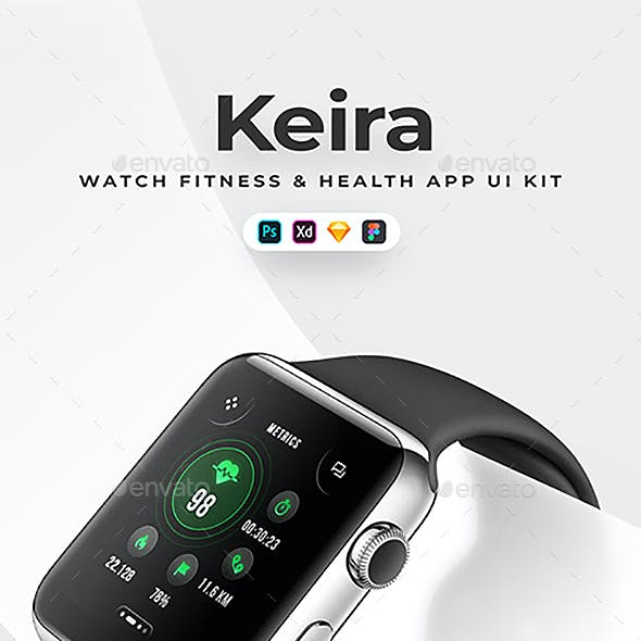 Keira - Aesthetic Fitness Watch UI Kit