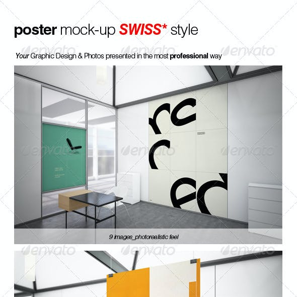 Poster Mock-up SWISS Style