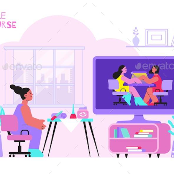 Manicure  Course Concept