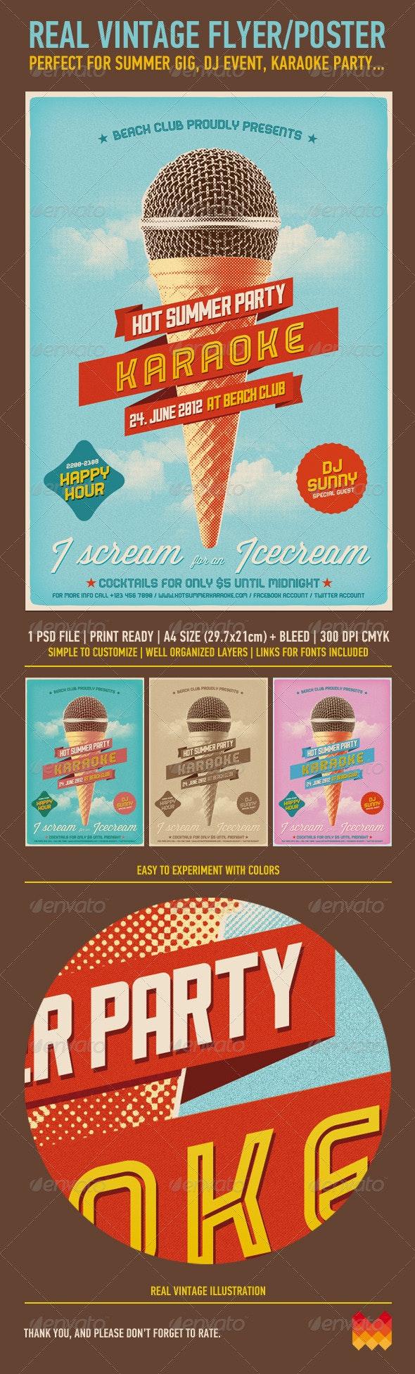 Vintage Poster - Flyers Print Templates
