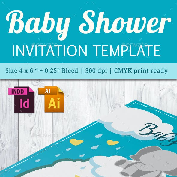 Baby Shower Template - Vol. 23