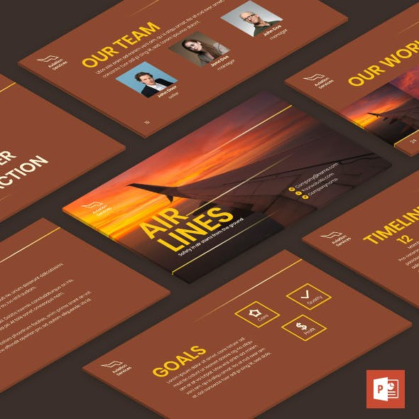 Airlines Aviation PowerPoint Presentation Template