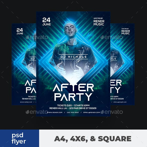 DJ Flyer After Party