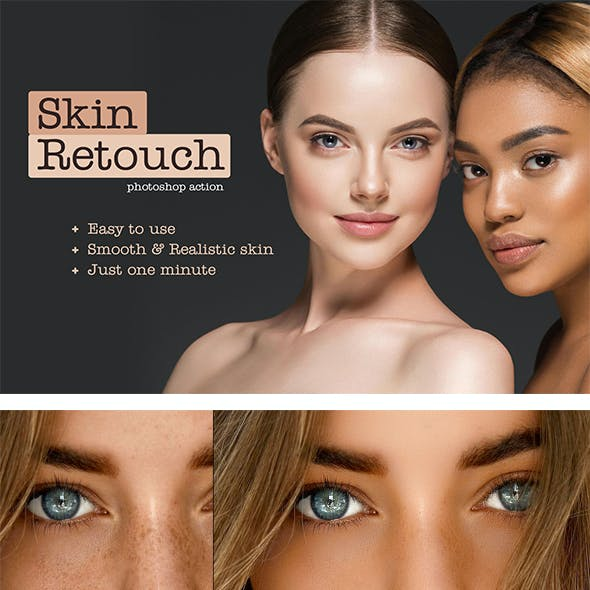 Realistic Skin Retouching PS Action