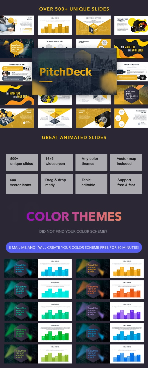 Pitch Deck Animated Powerpoint - Pitch Deck PowerPoint Templates