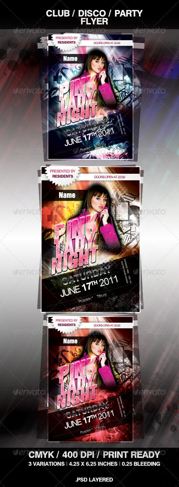 Disco Club Party Flyer - Clubs & Parties Events