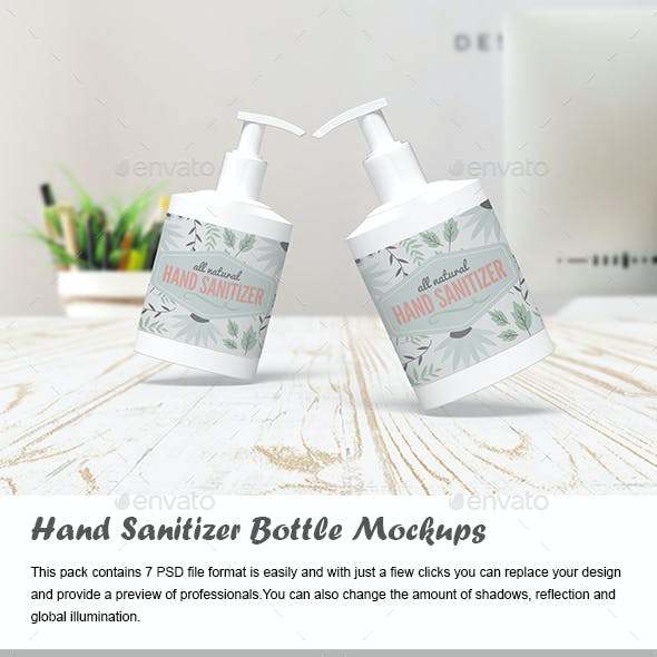 Hand Sanitizer Bottle Mockups