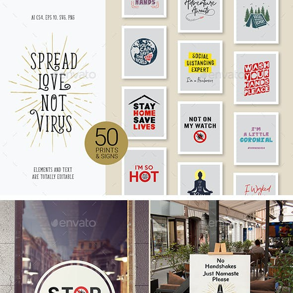 50 Posters About Coronavirus & Quarantine