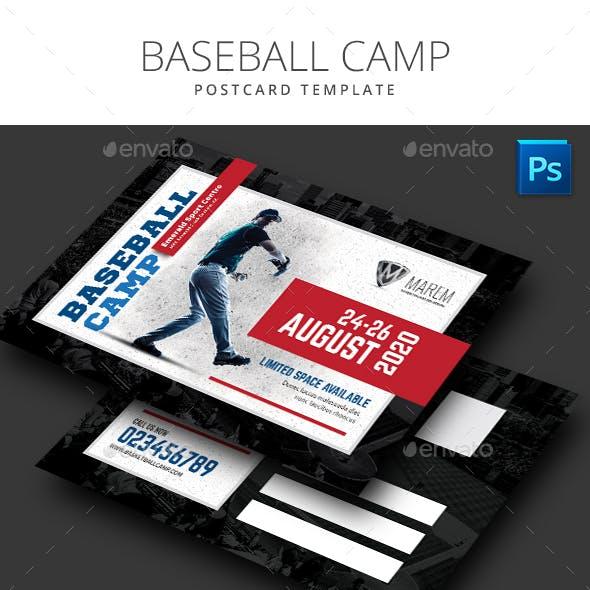 Baseball Camp Flyer Postcard