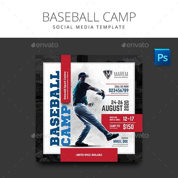 Baseball Camp Flyer Social Media Template