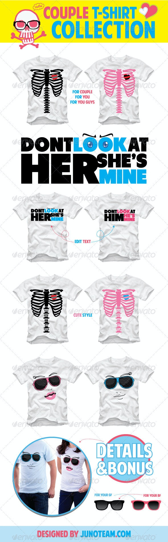 Couple T-Shirt Collection - Funny Designs