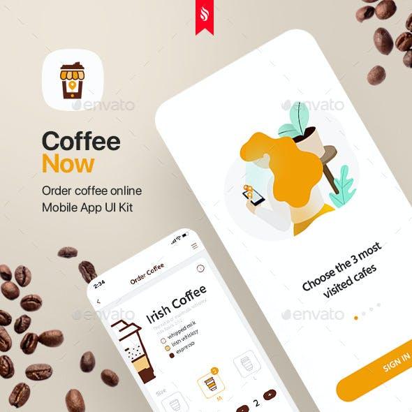 CoffeeNow - Mobile App UI Kit