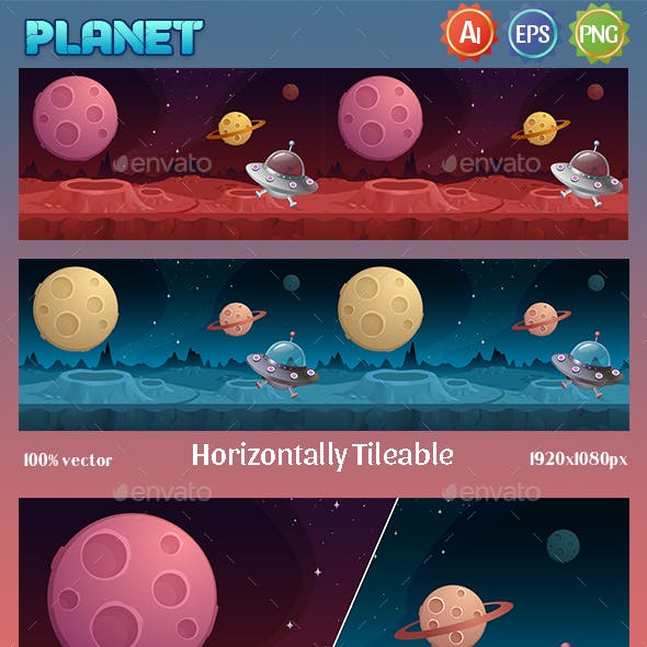 Game Background Planet