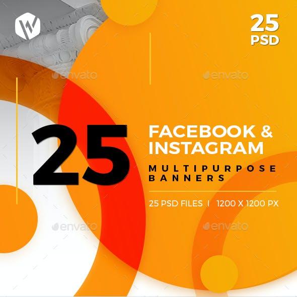 25-Facebook & Instagram Banners