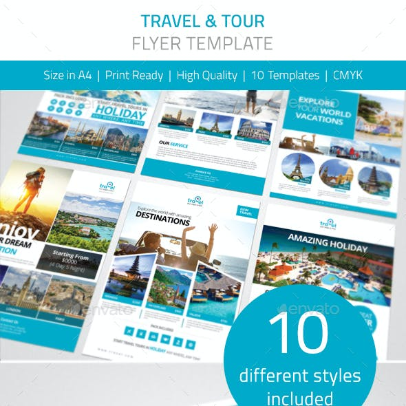 Travel Tours Flyer Pack Vol.1