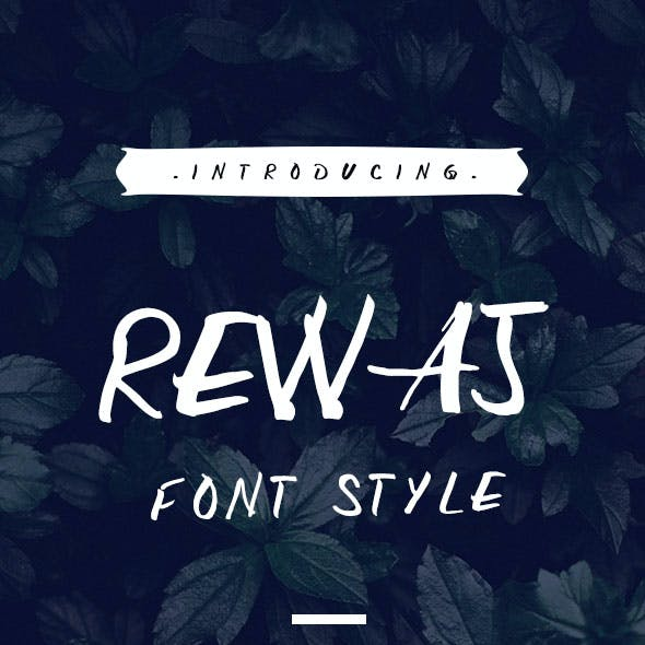 Rewaj - Custom Handmade Font Style