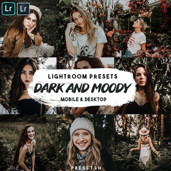 Dark Moody Lightroom Presets Mobile & Desktop
