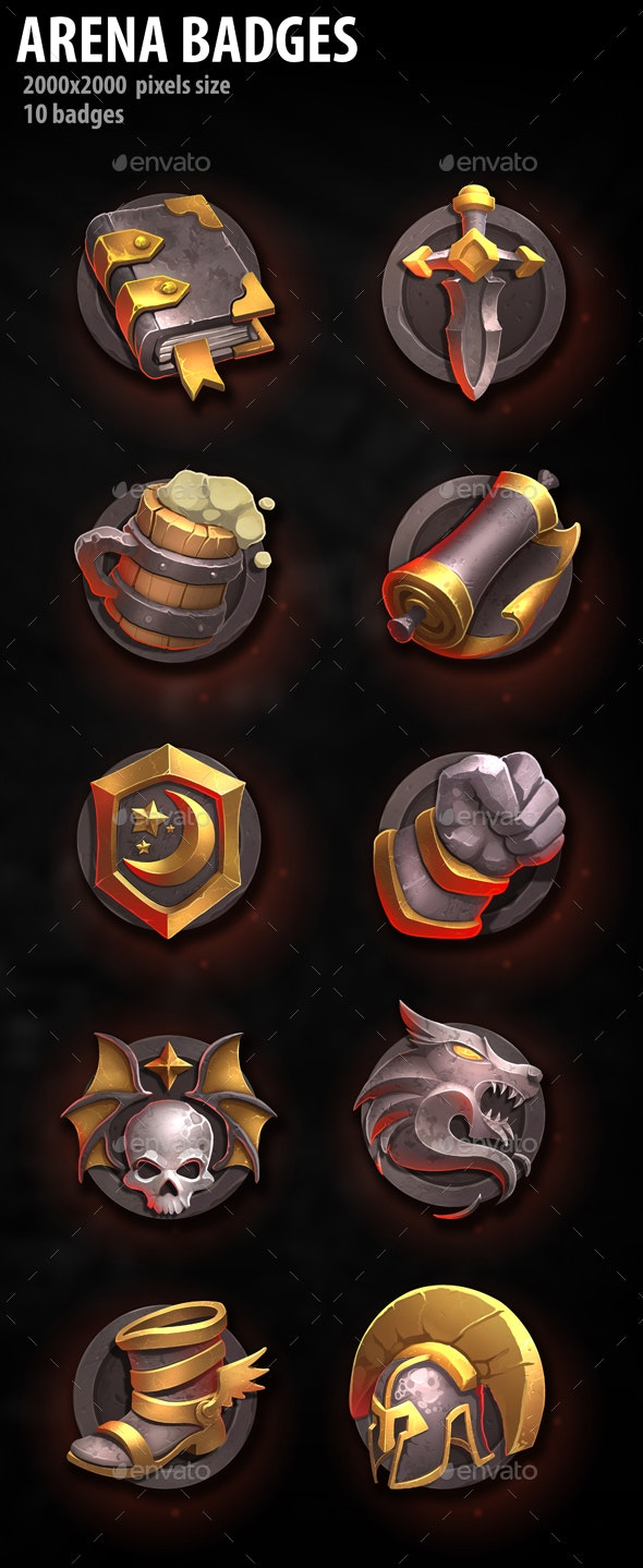 Arena Badges - Miscellaneous Game Assets