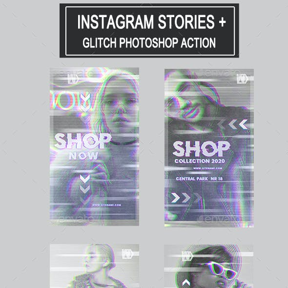 Glitch Instagram Stories